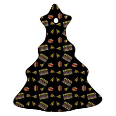 Fast Food Black Ornament (christmas Tree)