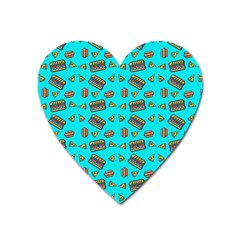 Fast Food Blue Heart Magnet by snowwhitegirl
