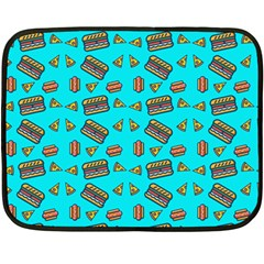 Fast Food Blue Fleece Blanket (mini) by snowwhitegirl