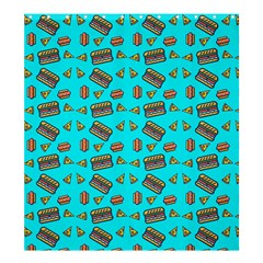 Fast Food Blue Shower Curtain 66  X 72  (large)  by snowwhitegirl