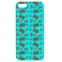 Fast Food Blue Apple Iphone 5 Hardshell Case With Stand by snowwhitegirl