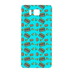 Fast Food Blue Samsung Galaxy Alpha Hardshell Back Case by snowwhitegirl