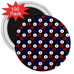 Eye Dots Red Blue 3  Magnets (100 Pack) by snowwhitegirl
