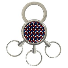 Eye Dots Red Blue 3 Ring Key Chains by snowwhitegirl