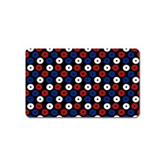 Eye Dots Red Blue Magnet (name Card) by snowwhitegirl