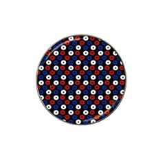 Eye Dots Red Blue Hat Clip Ball Marker by snowwhitegirl