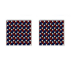 Eye Dots Red Blue Cufflinks (square) by snowwhitegirl