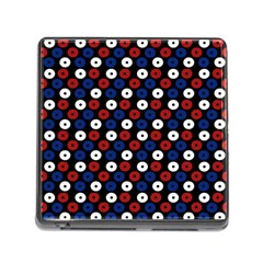 Eye Dots Red Blue Memory Card Reader (square 5 Slot) by snowwhitegirl