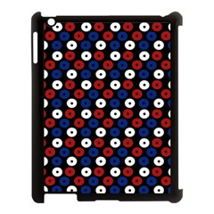 Eye Dots Red Blue Apple Ipad 3/4 Case (black) by snowwhitegirl