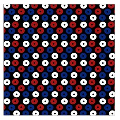 Eye Dots Red Blue Large Satin Scarf (square) by snowwhitegirl