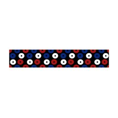 Eye Dots Red Blue Flano Scarf (mini) by snowwhitegirl