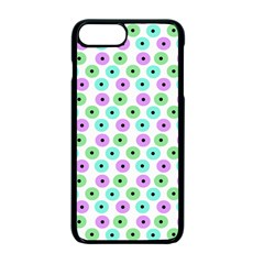 Eye Dots Green Violet Apple Iphone 7 Plus Seamless Case (black)