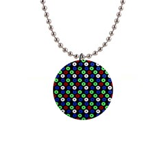 Eye Dots Green Blue Red Button Necklaces by snowwhitegirl