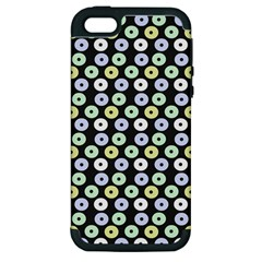 Eye Dots Grey Pastel Apple Iphone 5 Hardshell Case (pc+silicone) by snowwhitegirl