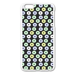 Eye Dots Grey Pastel Apple Iphone 6 Plus/6s Plus Enamel White Case by snowwhitegirl