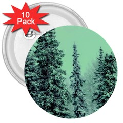 Winter Trees 3  Buttons (10 Pack)