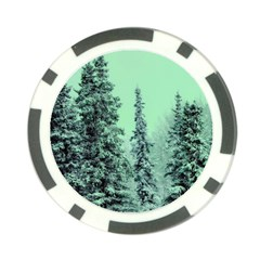 Winter Trees Poker Chip Card Guard by snowwhitegirl