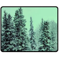 Winter Trees Double Sided Fleece Blanket (medium)  by snowwhitegirl