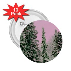 Winter Trees Pink 2 25  Buttons (10 Pack)  by snowwhitegirl