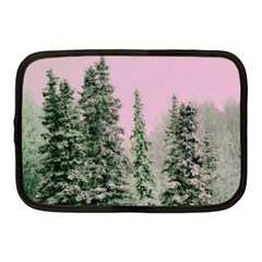 Winter Trees Pink Netbook Case (medium) by snowwhitegirl