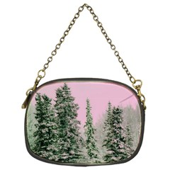 Winter Trees Pink Chain Purse (two Sides)