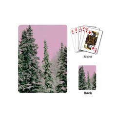 Winter Trees Pink Playing Cards (mini)  by snowwhitegirl