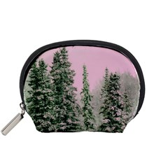 Winter Trees Pink Accessory Pouch (small) by snowwhitegirl