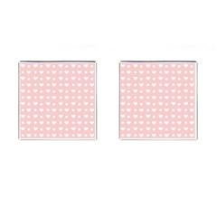 Hearts Dots Pink Cufflinks (square) by snowwhitegirl