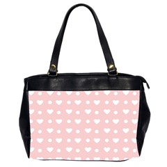 Hearts Dots Pink Oversize Office Handbag (2 Sides) by snowwhitegirl
