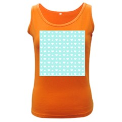 Hearts Dots Blue Women s Dark Tank Top