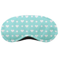 Hearts Dots Blue Sleeping Masks by snowwhitegirl