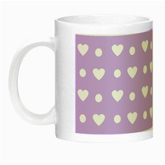 Hearts Dots Purple Night Luminous Mugs by snowwhitegirl