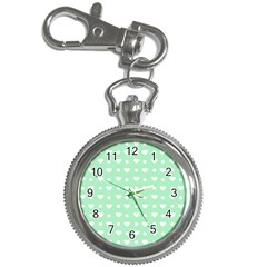 Hearts Dots Green Key Chain Watches