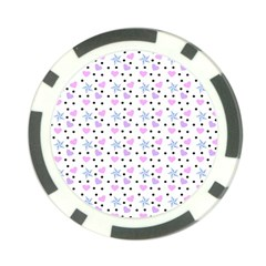 Hearts And Star Dot White Poker Chip Card Guard (10 Pack) by snowwhitegirl