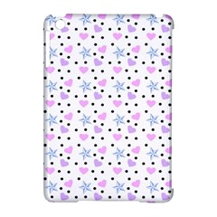 Hearts And Star Dot White Apple Ipad Mini Hardshell Case (compatible With Smart Cover) by snowwhitegirl