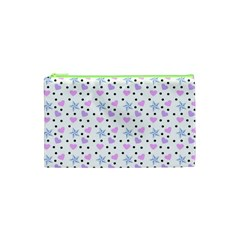 Hearts And Star Dot White Cosmetic Bag (xs) by snowwhitegirl