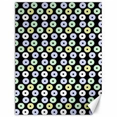 Eye Dots Black Pastel Canvas 12  X 16   by snowwhitegirl