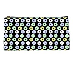 Eye Dots Black Pastel Pencil Cases by snowwhitegirl