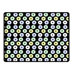 Eye Dots Black Pastel Fleece Blanket (small) by snowwhitegirl