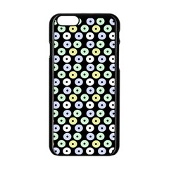 Eye Dots Black Pastel Apple Iphone 6/6s Black Enamel Case by snowwhitegirl