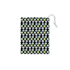 Eye Dots Black Pastel Drawstring Pouch (xs) by snowwhitegirl