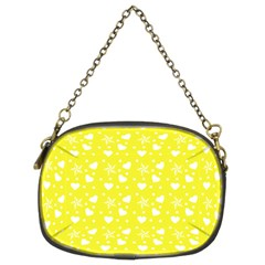 Hearts And Star Dot Yellow Chain Purse (two Sides) by snowwhitegirl