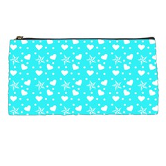 Hearts And Star Dot Blue Pencil Cases by snowwhitegirl