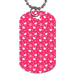 Hearts And Star Dot Pink Dog Tag (two Sides) by snowwhitegirl