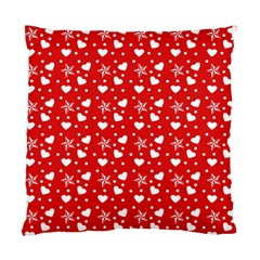 Hearts And Star Dot Red Standard Cushion Case (two Sides) by snowwhitegirl