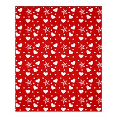 Hearts And Star Dot Red Shower Curtain 60  X 72  (medium)  by snowwhitegirl
