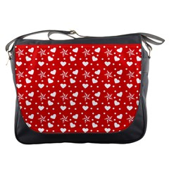 Hearts And Star Dot Red Messenger Bag