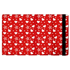 Hearts And Star Dot Red Apple Ipad 2 Flip Case by snowwhitegirl