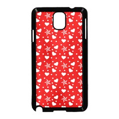 Hearts And Star Dot Red Samsung Galaxy Note 3 Neo Hardshell Case (black) by snowwhitegirl
