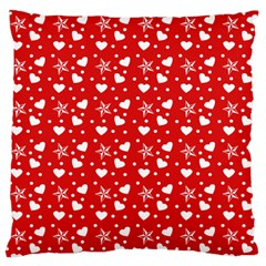 Hearts And Star Dot Red Standard Flano Cushion Case (two Sides) by snowwhitegirl